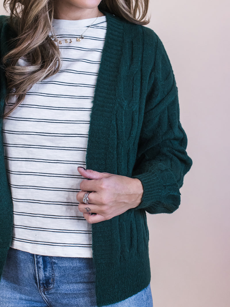 Hunter Cable Knit Cardi