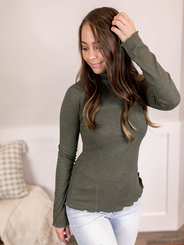 Olivia Ribbed Long Sleeve