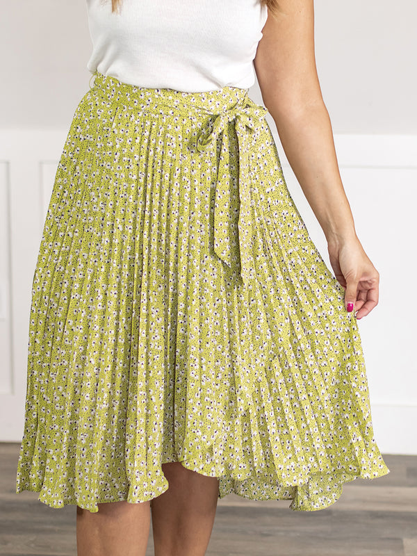 Melbourne Pleated Floral Skirt