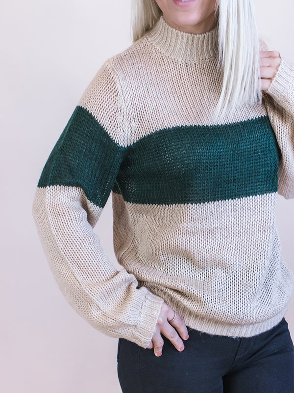 Silent Night Color Block Sweater