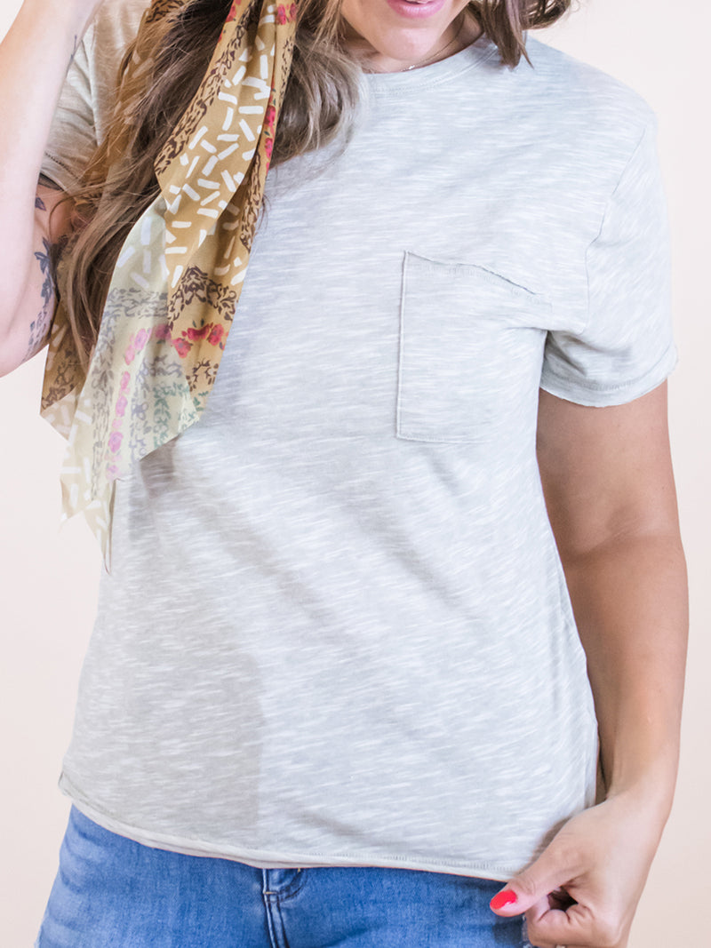 Everyday Sage Pocket Tee