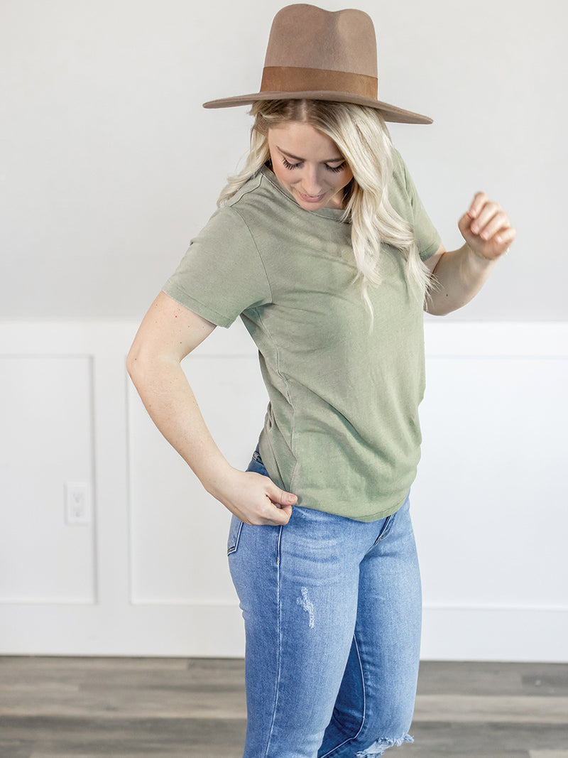 Lived In Sage Washed Tee