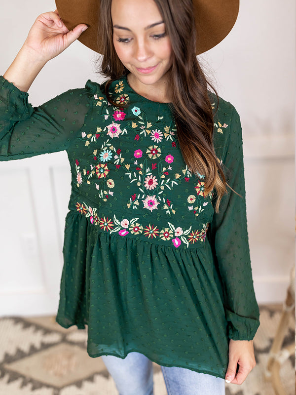 Corinne Embroidered Blouse