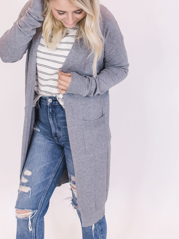 Heather Grey Soft & Classic Cardigan