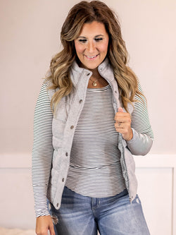Sloan Grey Button Vest