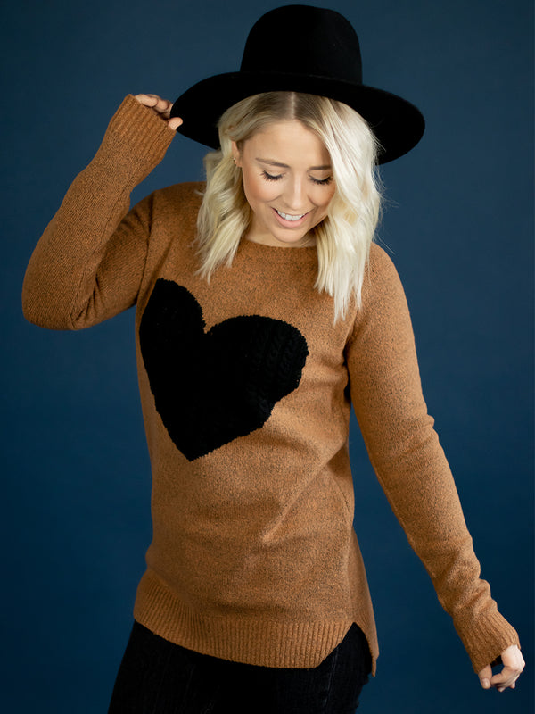 Be Mine Knit Heart Sweater