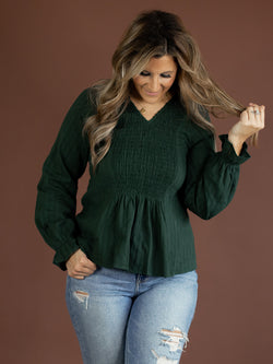 Marcie Hunter Green Blouse