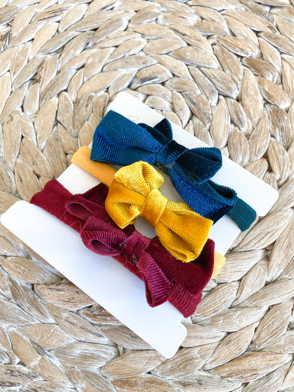 Velvet Bow Hair Tie Pack