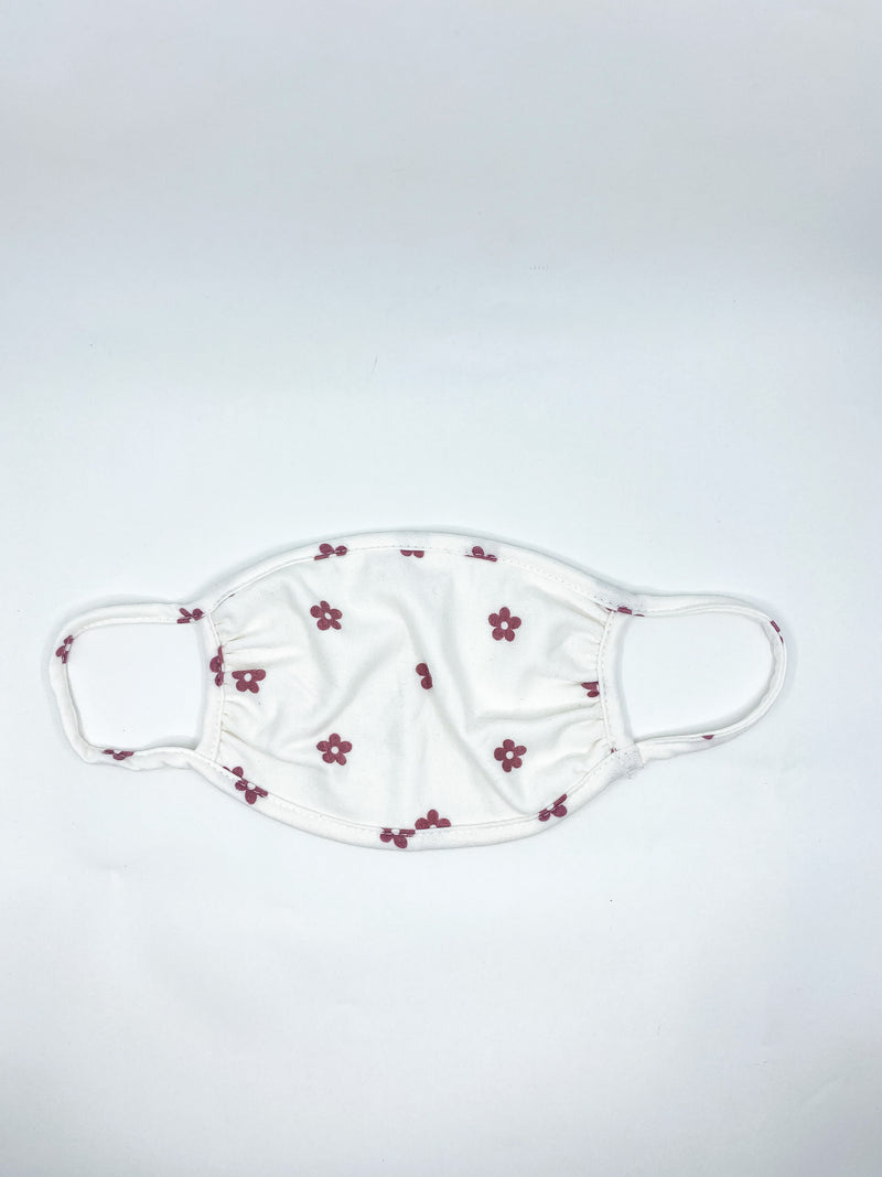 Burgundy Flower Mask