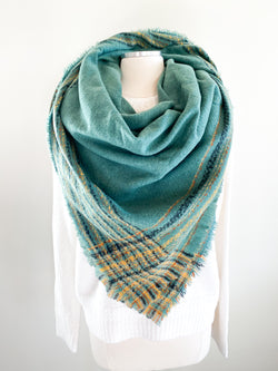 Fern Plaid Blanket Scarf