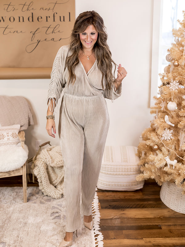 Tinsel + Tangle Pleated Jumpsuit