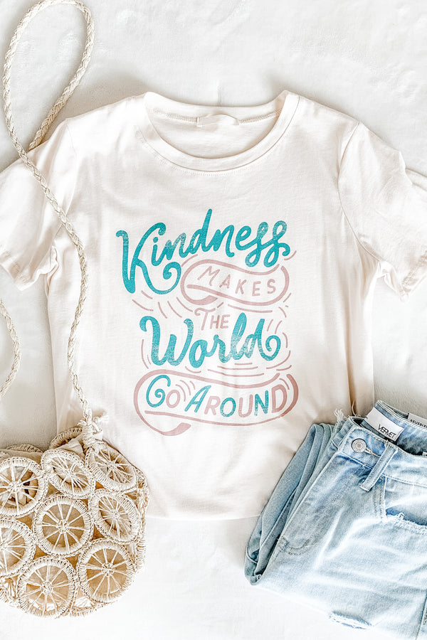 """Kindness Makes the World Go Around"" Tee"