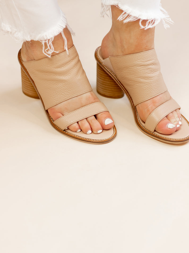 Cosmic Heeled Leather Sandal
