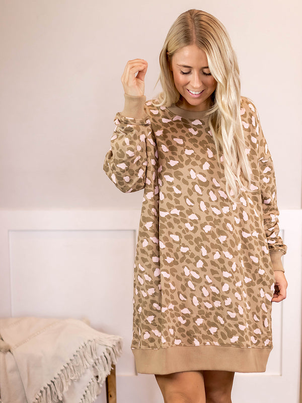 Darla Leopard Dress