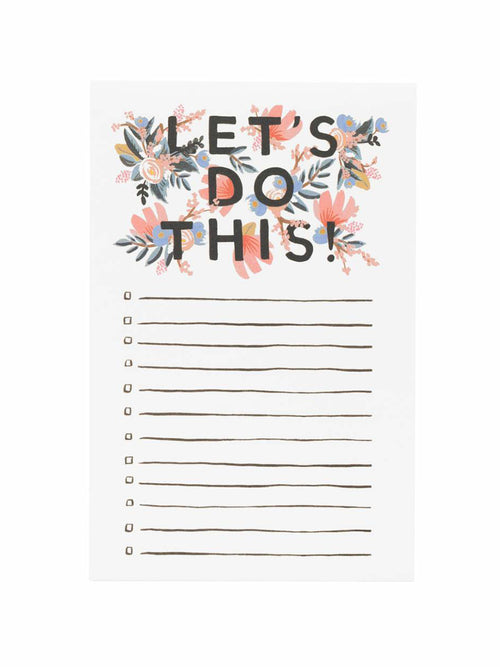 """Let's Do This"" Notepad"