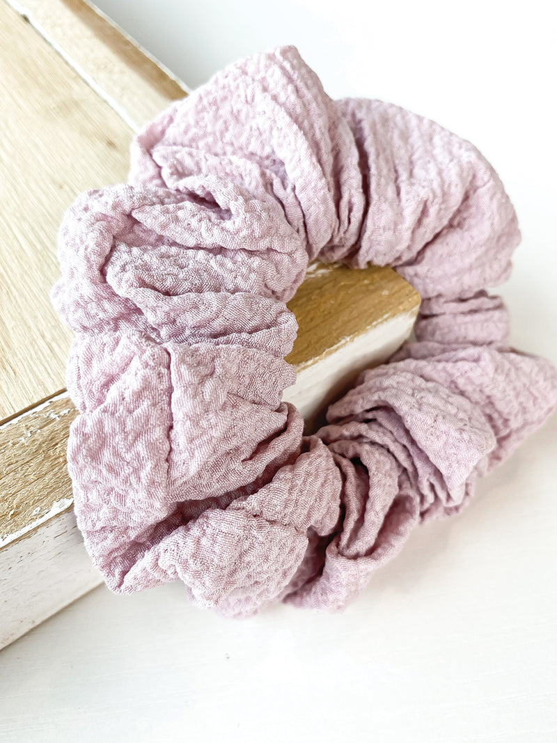 Lavender Textured Scrunchie