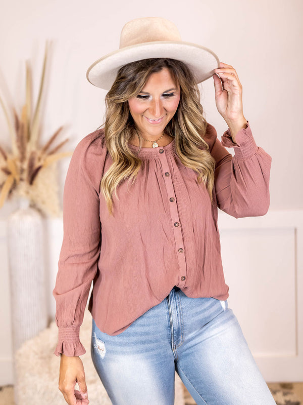 Christine Button Down Blouse