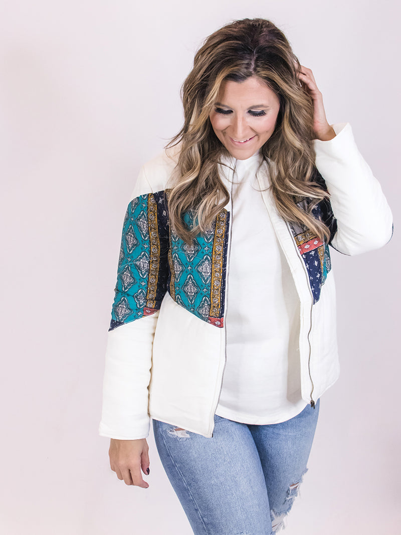 Paisley Quilted Coat