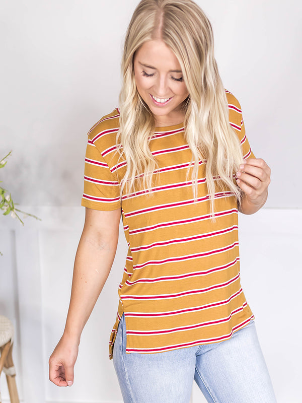 Everyday Stripe Pocket Tee