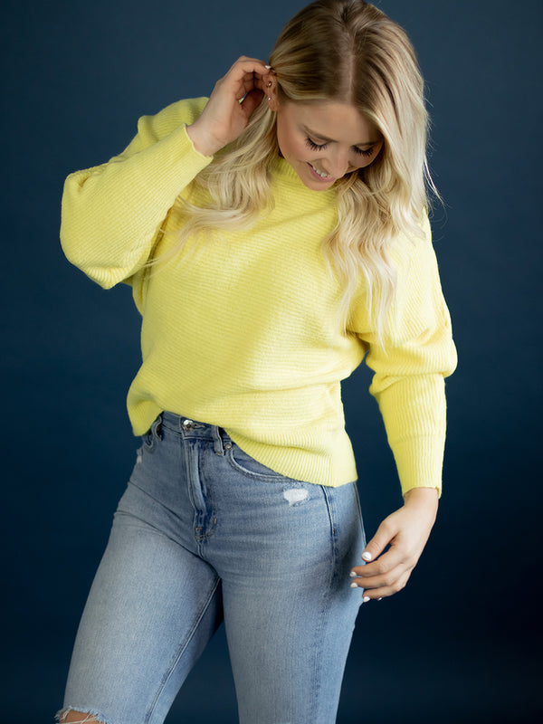 Daisy Yellow Spring Sweater
