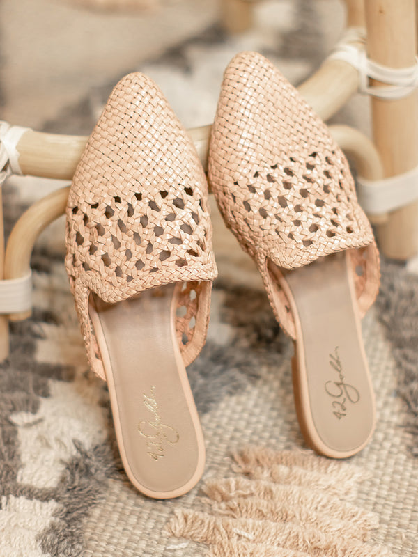 Corra Natural Woven Mule