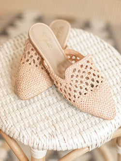 Corra Natural Woven Mule – The Pink Pig