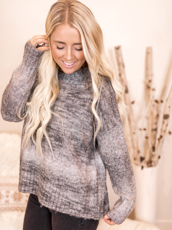 Maris Marbled Grey Sweater