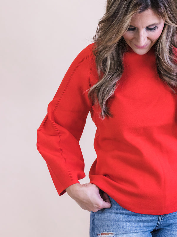 Tierney Red Sweater