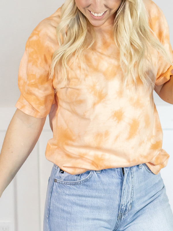 Everyday Cantaloupe Tie Dye Top