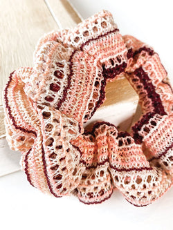 Pink + Peach Knit Scrunchie