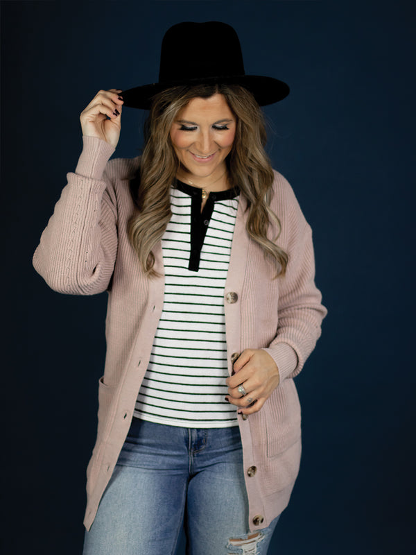 Milana Dusty Blush Cardigan