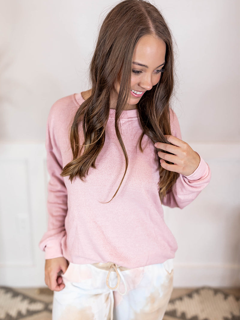 Dusty Pink Lightweight Sweatshirt