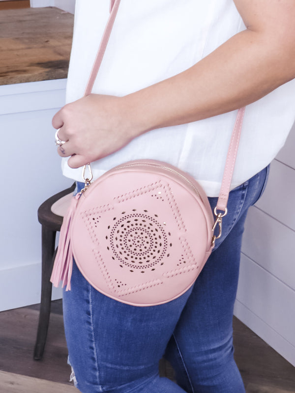 Evie Round Laser Cut Purse