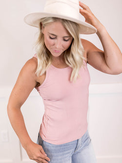 Everyday Pink Ribbed Tank