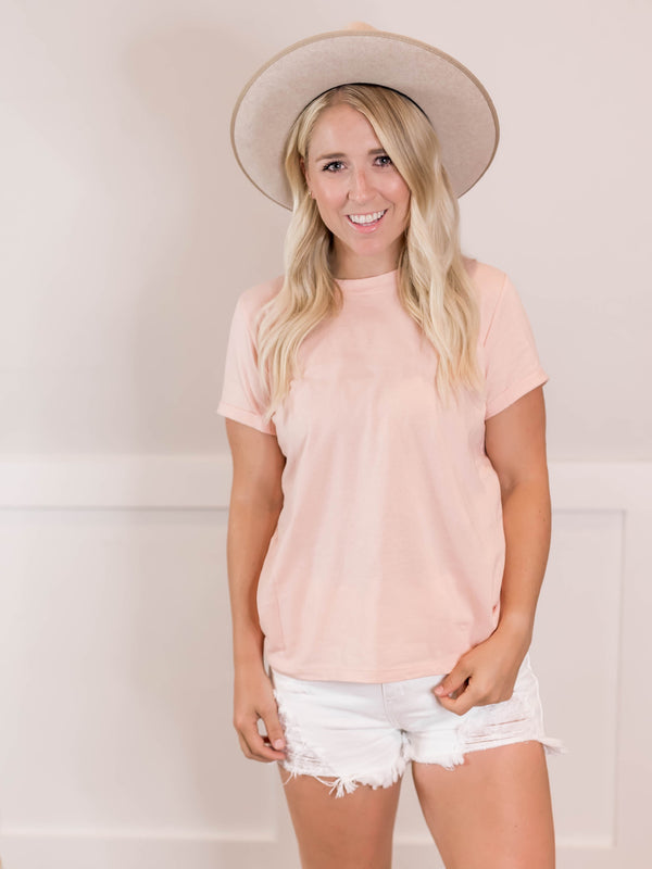 Everyday Blush Cuffed Tee