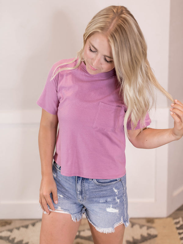 Breia Everyday Pocket Crop Tee