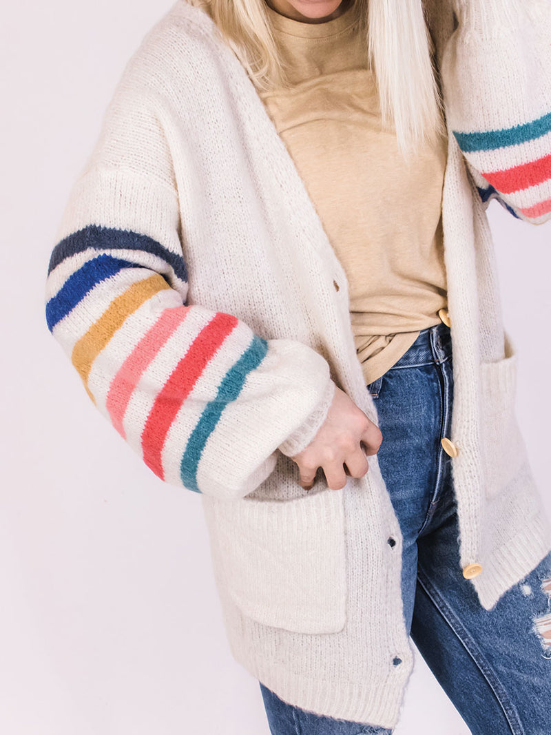 Rainbow Stripe Cardigan