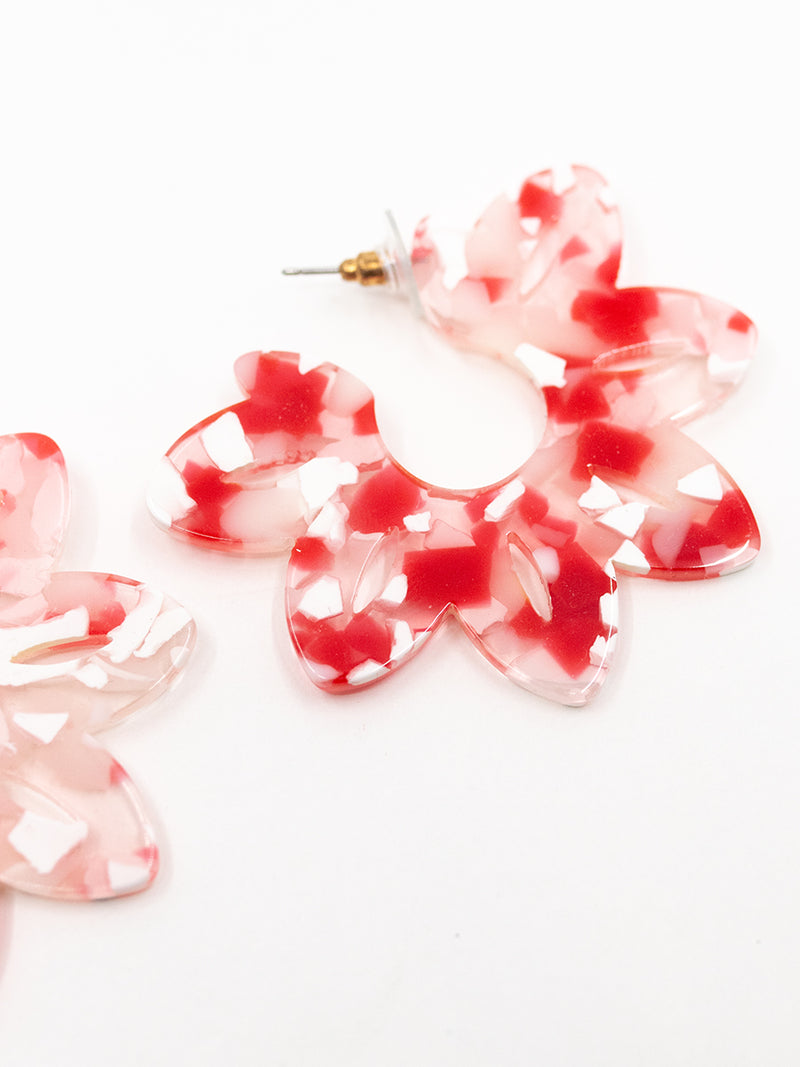 Resin Flower Earring