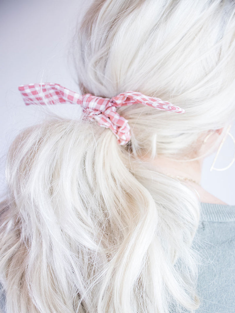 Blush Gingham Scrunchie