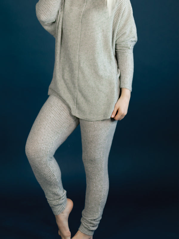 Cozy Taupe Ribbed Joggers
