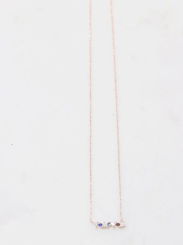 Rose Gold Dainty Gem Necklace
