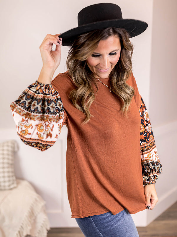 Delaney Printed Blouse