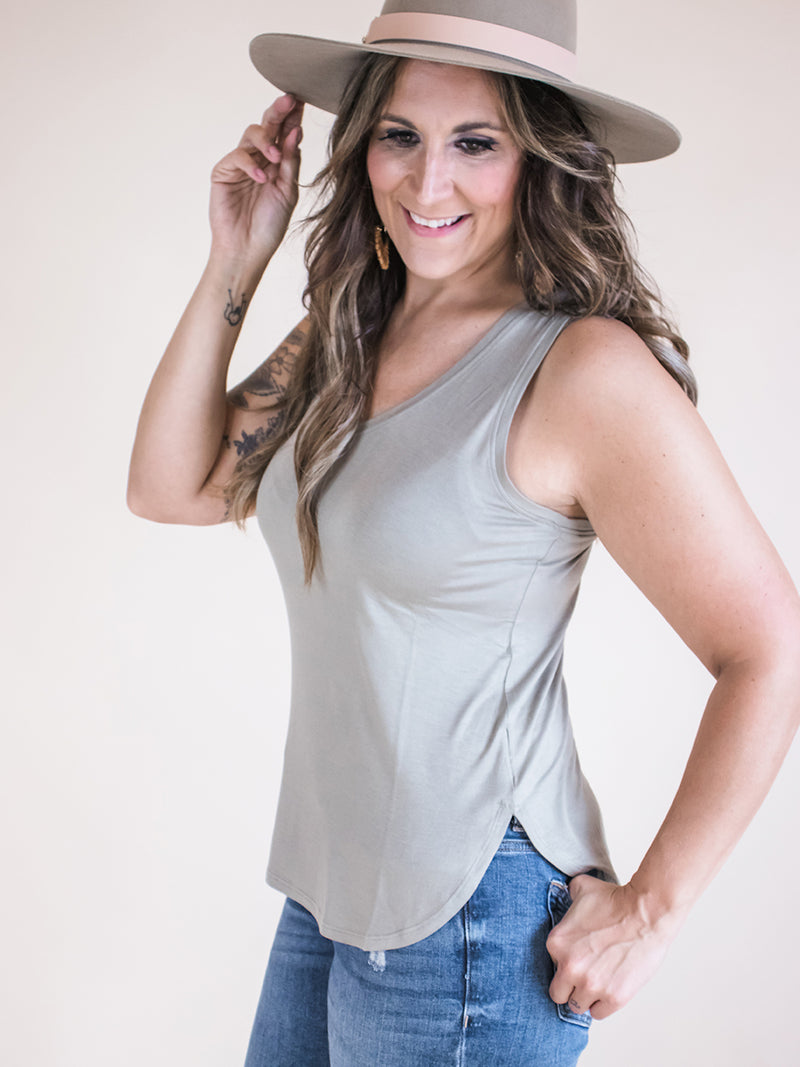 Everyday Olive V-Neck Tank
