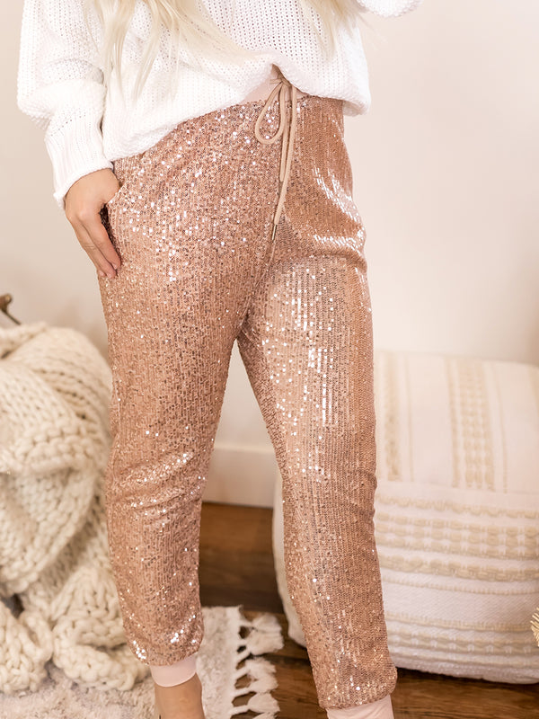 Something To Talk About Sequin Joggers