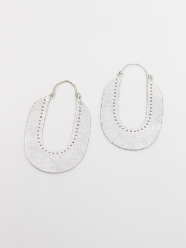 Silver Drop Metal Earring