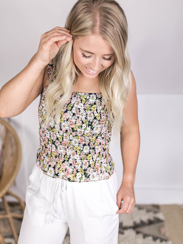 Delilah Floral Sweetheart Tank