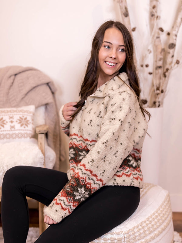 Snowflake Sherpa Pullover