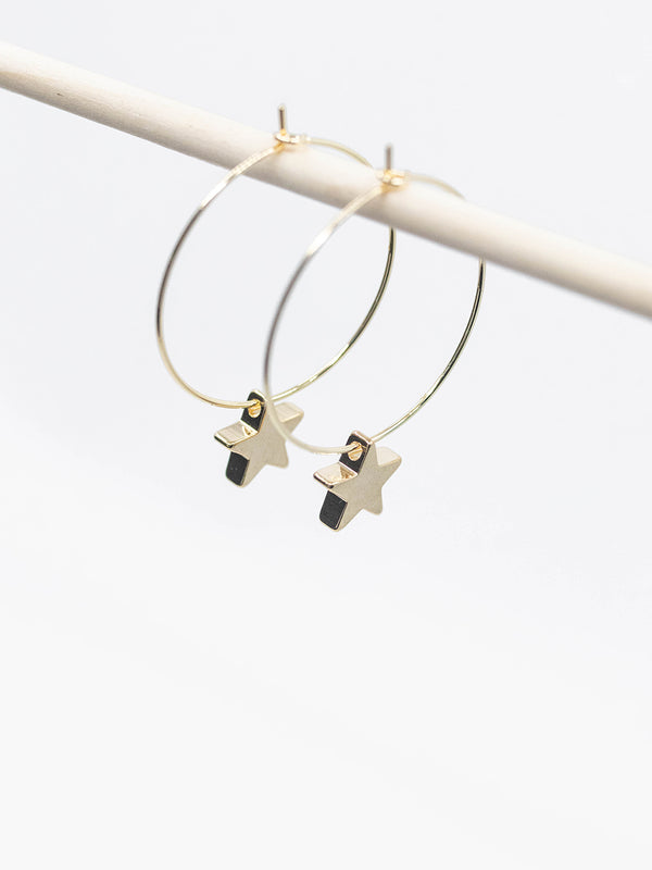 Mini Star Hoop Earrings