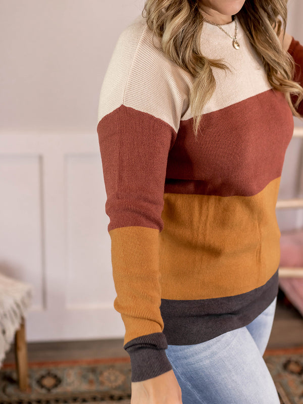Mona Color Block Sweater