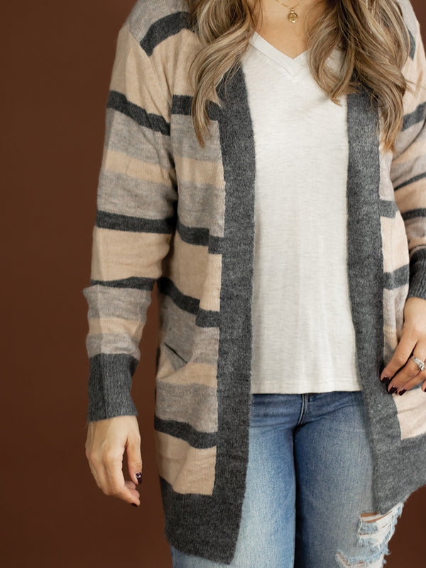 Leona Multi Stripe Cardigan